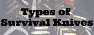 Types of Survival and Tactical Knives