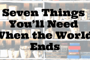 Seven Things You'll Need When the World Ends