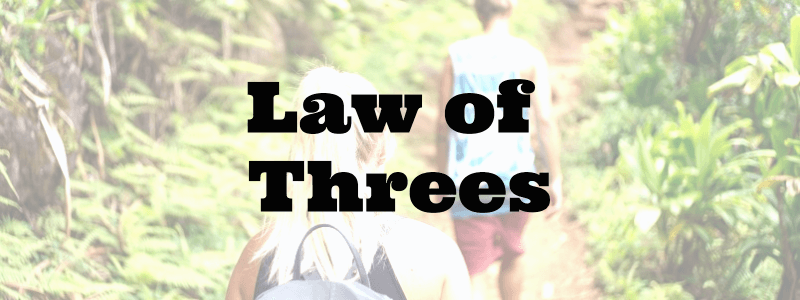 Survival law of threes