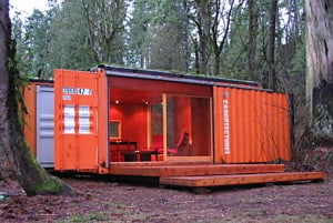 shipping container bug out shelter