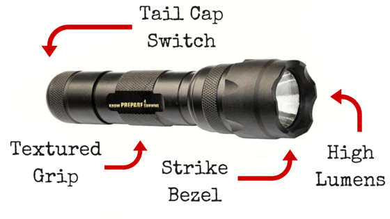 Tactical flashlight anatomy