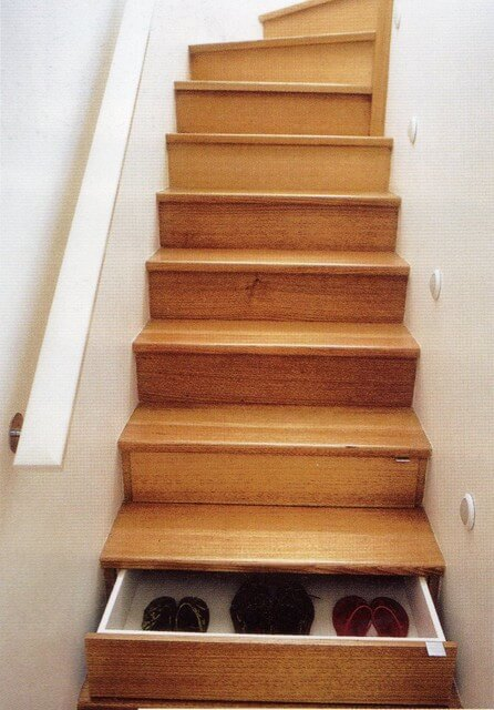 gun storage under stairs