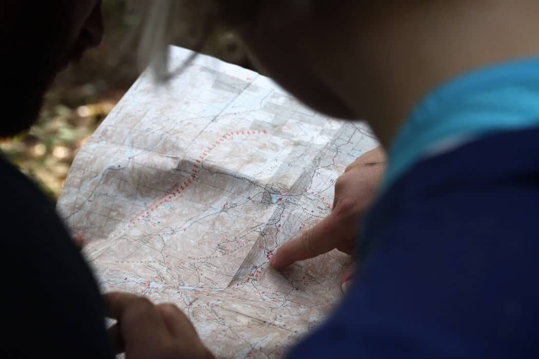 essential hunting gear-map and compass