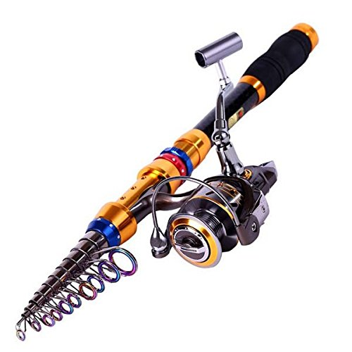 Telescoping fishing rod and reel combo