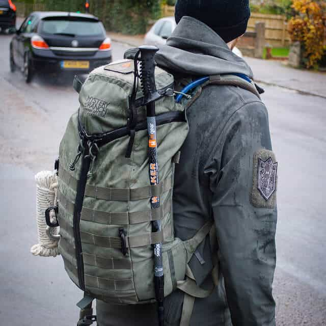 backpack with MOLLE webbing