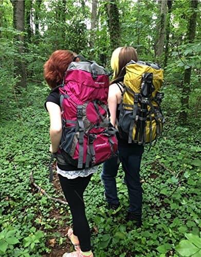 girls hiking with backpacks