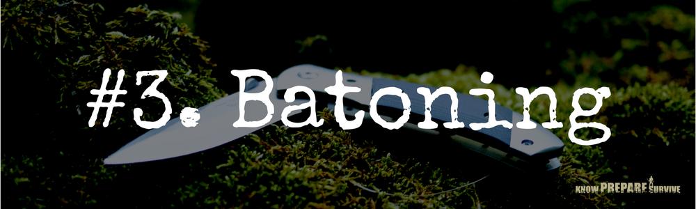 Batoning with a bushcraft knife
