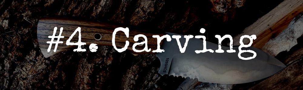 Use a knife to carve