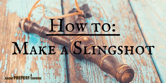 How to make a homemade hunting slingshot
