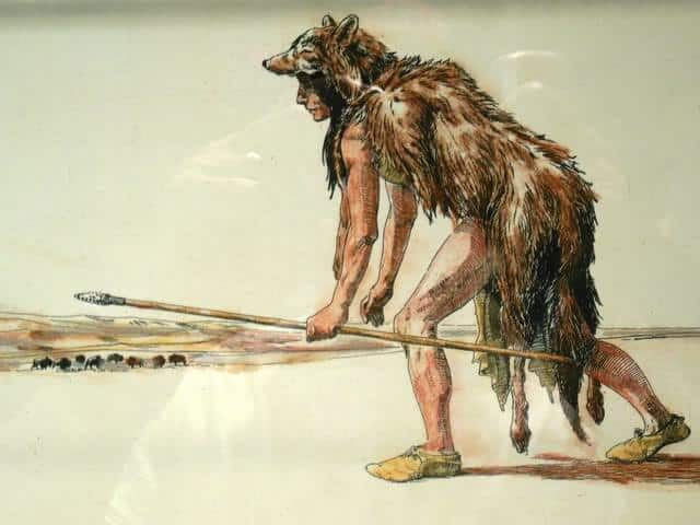 Hunting with a spear