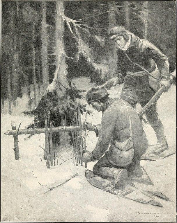 Setting a snare trap