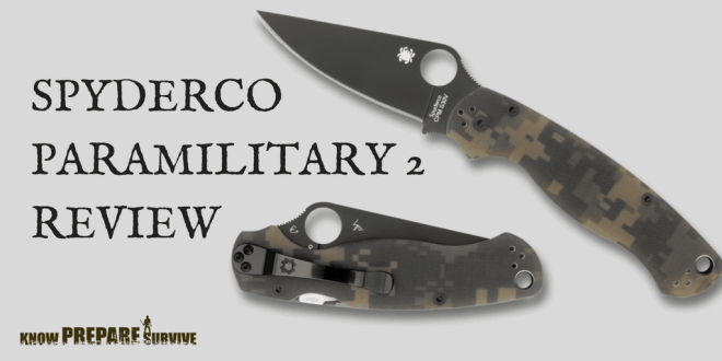 Spyderco ParaMilitary 2 Knife Review