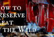 How to Preserve Meat in the Wild