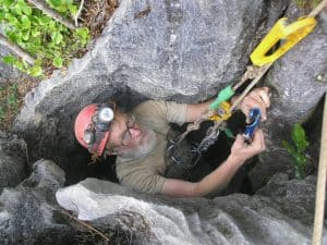 Caving and Spelunking with Double Bowline Knot