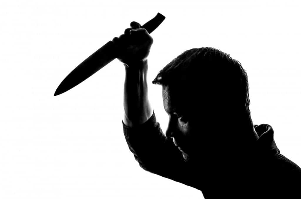 Seld Defense Bad Guy with Knife