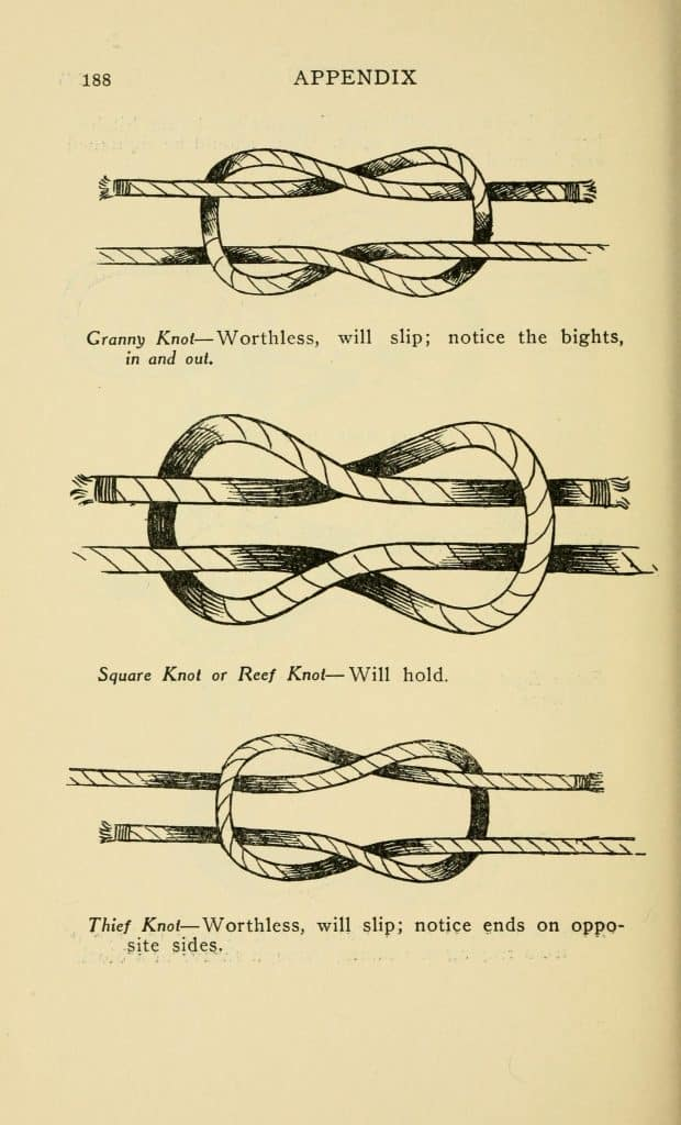 Square Reef Granny Thief Knot