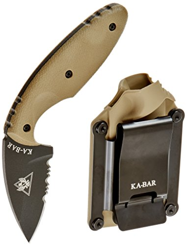 TDI Law Enforcement Fighting Self Defense Knife Coyote Brown Sheath Belt Clip