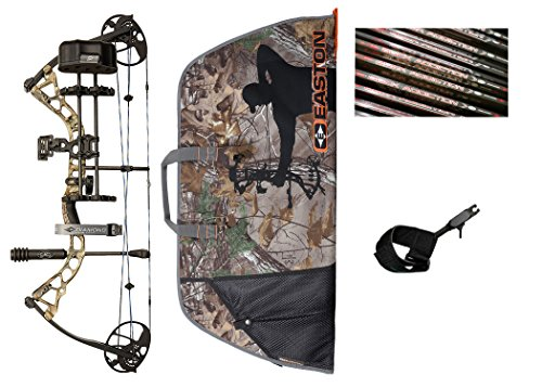 Diamond Archery Infinite Edge Pro Hunting Bow Package with Arrows Case and Trigger Release