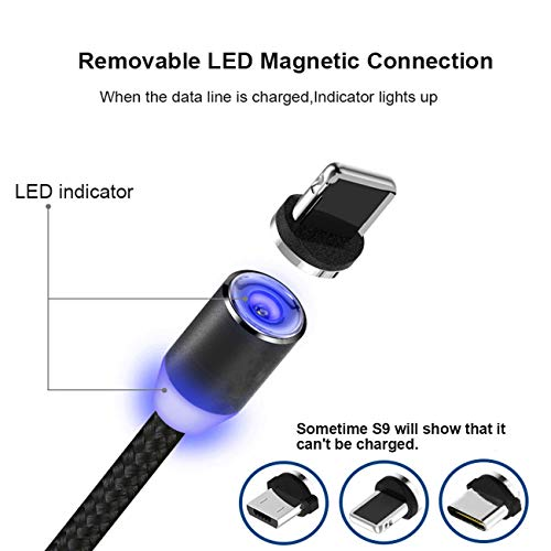 USB LED magnetic charging adapter micro USB for smartphone flashlight