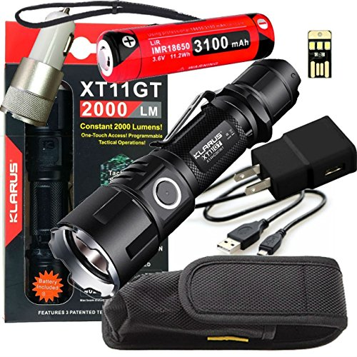 Klarus XT11GT super bundle deal with wall and car charger