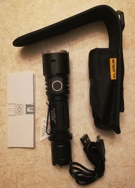 XT11GT package flashlight manual charging cord sheath accessories clip