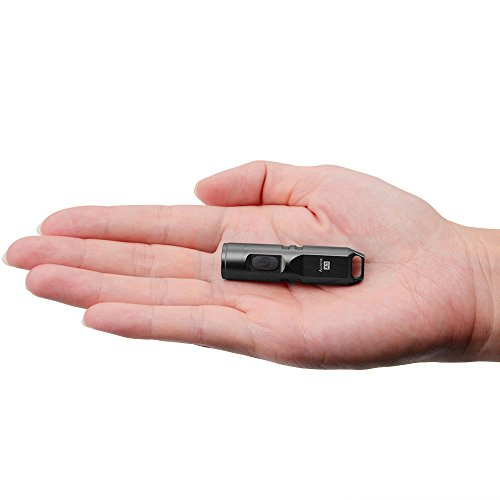 tiny keychain flashlight easy to use everyday carry light small and compact