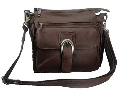 Roma Leathers Leather Concealed Carry Cross Body Gun Purse Left or Right Hand W/ Holster