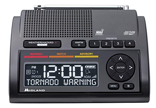 Emergency weather alert radio tornado NOAA warning broadcast system stay safe