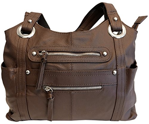 Roma Leathers Leather Locking Concealment Purse CCW Concealed Carry Gun Shoulder Bag