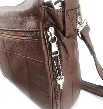 Roma Leathers Leather Concealed Carry Cross Body Gun Purse Left or Right Hand with Holster