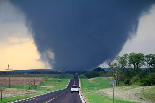 safest place car how to drive away from a tornado