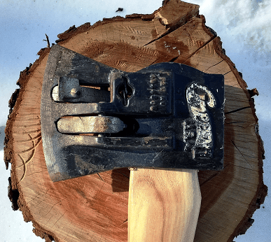 Chopper1 wood splitting axe rotating levers chopping and splitting