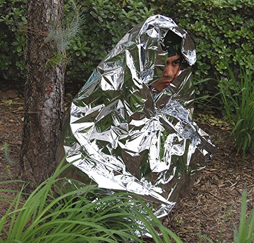 Emergency survival mylar space blanket prevent heat loss shock