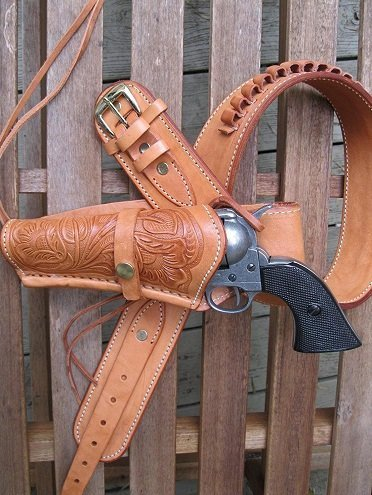 Shotgun Lilli Gun Belt natural left handed wide comfortable cowboy western gun belt