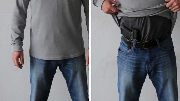 Why concealed carry when you can open carry pistol hide gun stay invisible