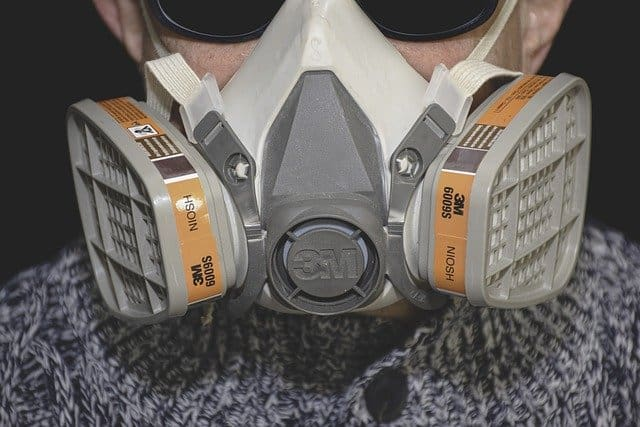 Half face mask respirator for better protection from coronavirus while breathing