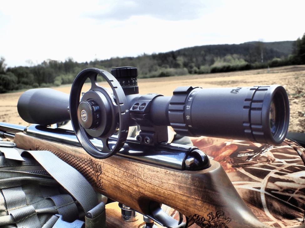 Use a scope to improve long range air rifle aim
