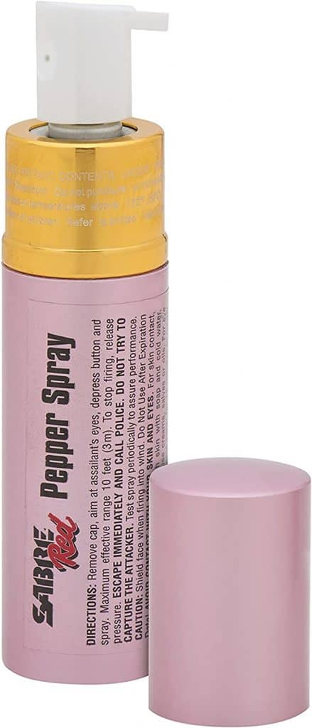 SABRE Lipstick Pepper Spray one of the best self defense weapons for women